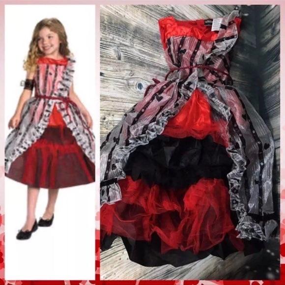 🆕 Alice Wonderland Court Costume Girls L 10 12 Boutique